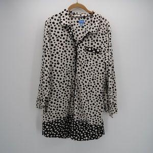 Simply Vera Vera Wang Polka LongSleeve Shirt Dress